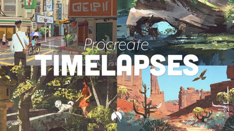TIMELAPSES - 20 Procreate Painting Timelapse Videos