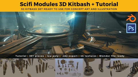 Scifi Modules 3D Kit & Tutorial