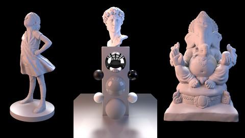 Maya (Arnold) 3pt Studio Lighting Scene