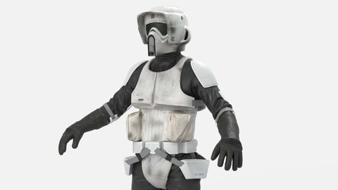 army - 3D Characters   from Star Wars  Battlefront - Scout Trooper
