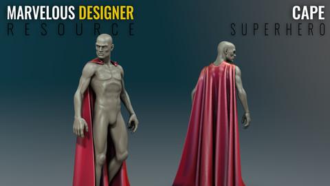 Cape - Superhero - Marvelous Designer Resource