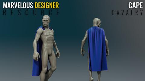 Cape - Cavalry - Marvelous Designer Resource