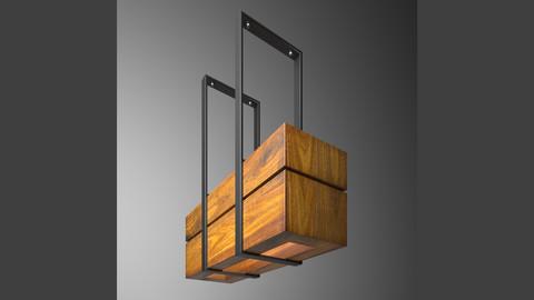 Wooden light small