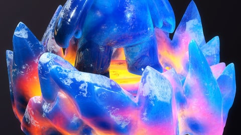 Stylized_ice_substance_material