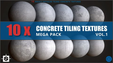 Concrete Texture Mega Pack Vol.1