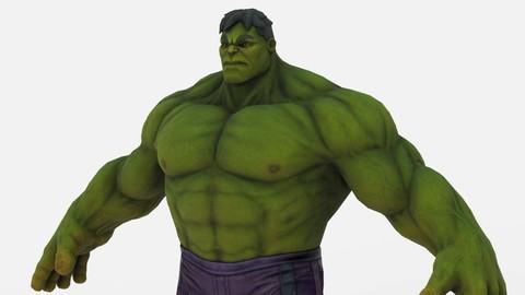 3D Characters- Marvel - Hulk