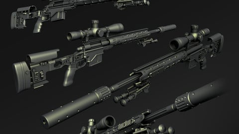 SniperRifle HighPoly