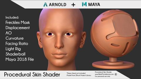 100% Procedural Skin Shader