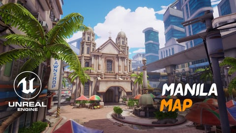 Stylized City Environment : Manila (UE4 Project File + Substance Painter files)