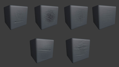 ZBRUSH 6 Realistic Wooden Pattern Displacement Alpha Map Brushes / Volume Set.2