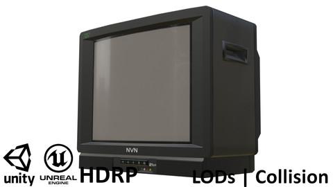 "Game-ready Vintage CRT TV 21"""