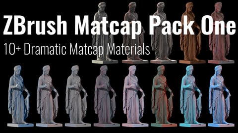Zbrush Matcap Materials Pack One