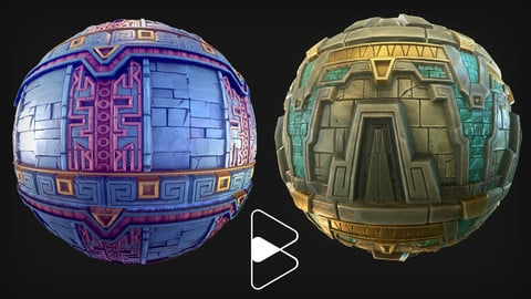Stylised Aztec Material Pack