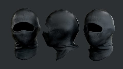 Military Police SWAT Equipment Mask Game Ready 01 Low-poly 3D model