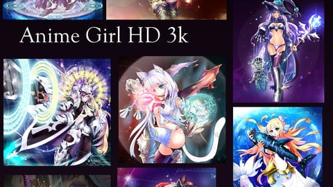 Fantasy anime girl HD