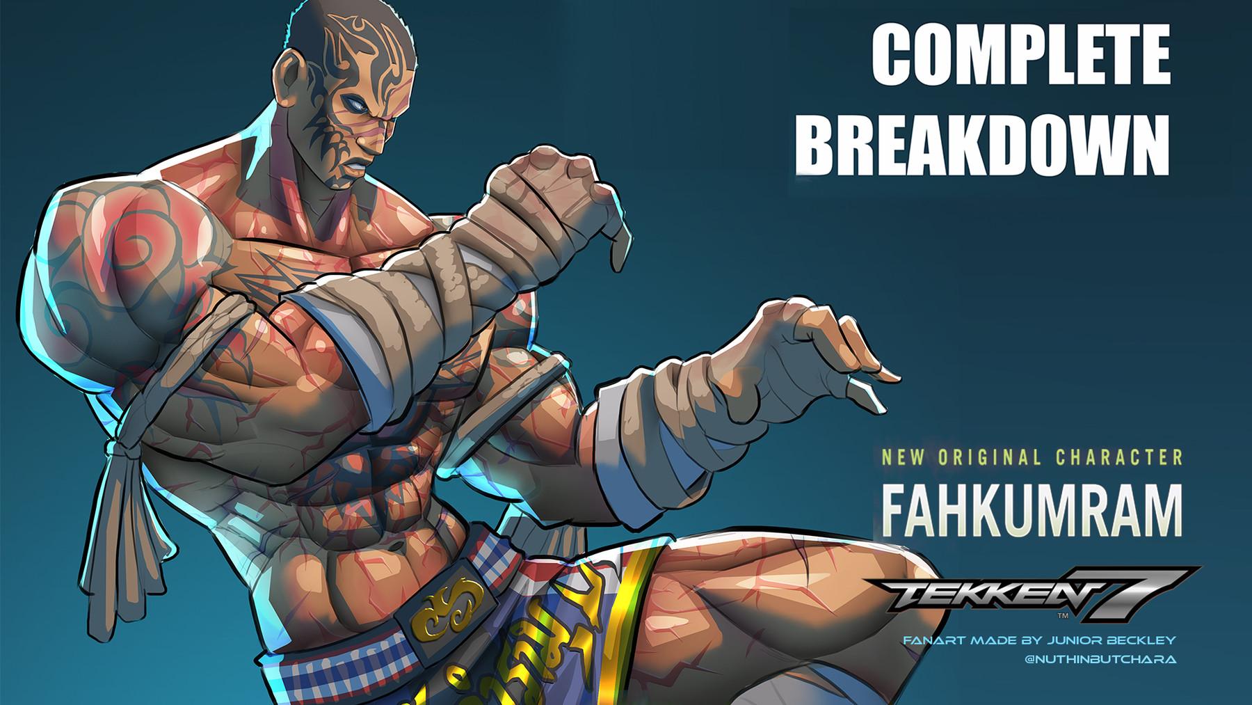 Artstation Complete Breakdown 01 Tekken 7 Fahkumram Fanart