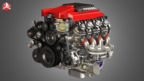 V8 Supercharge Engine