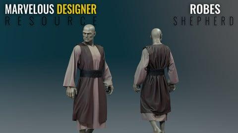 Robes - Shepherd - Marvelous Designer Resource
