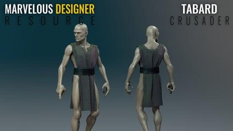 Tabard - Crusader - Marvelous Designer Resource