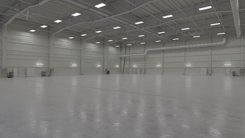 Airplane Hangar Interior 1