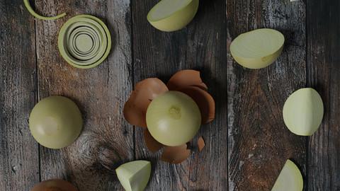 White Onion low-poly scene