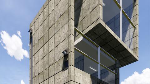 4x4 HOUSE by TADAO ANDO - AUTODESK REVIT 3D model