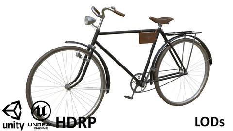 Game-ready Retro Bicycle Black - Customisable