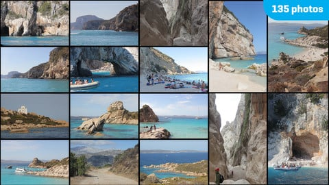 Sardegna Trip - matte painting, photo-bashing, reference. Caves, beaches, rocks, laguns, canyon