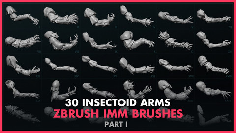 Alien Insectoid Arms – 30 IMM Brushes Part I