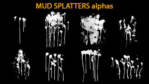 Mud Splatters Alphas