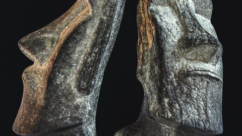 Moai / Sculpture / 3D model