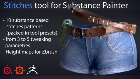 Stitches tool for Substance painter