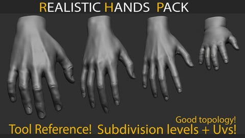 Realistic Hands Pack