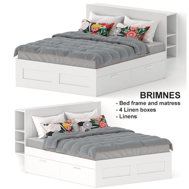 Artstation Brimnes Bed By Ikea Game, Ikea Brimnes Queen Bed With Storage
