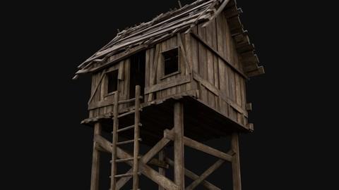 Wooden Medieval Watchtower