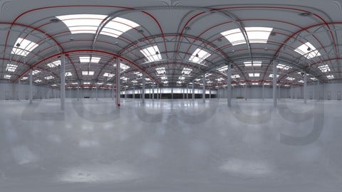 HDRI - Industrial Warehouse Interior 8