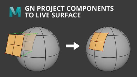 [Maya] GN Project Components To Live Surface