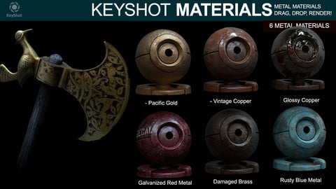 Metal Materials for Keyshot (Part 4)