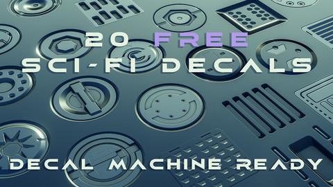 20 FREE sci-fi decals - Decal Machine ready