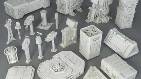 Sci-Fi Factory Units - 20 pieces - Collection - 1