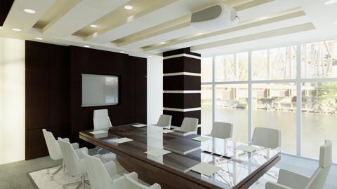 Revit Office interior design 3D model