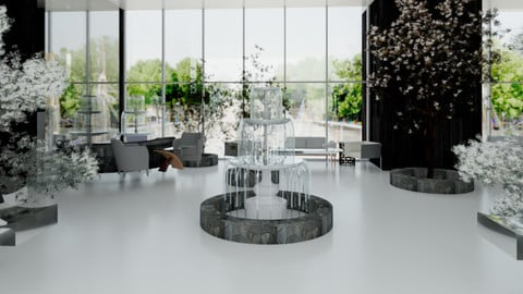 3D Revit Office building interior design