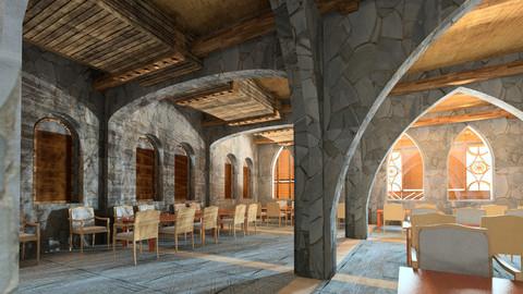 3D Revit Arabian Design Restaurant