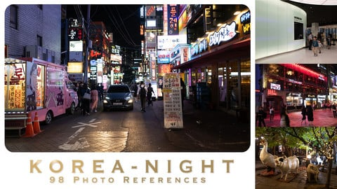 KOREA - NIGHT - 98 photo references