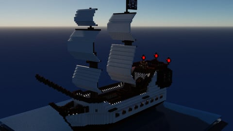 Voxel Pirate Ship