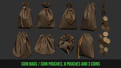 Coin bags / Coin Pouches + Coins