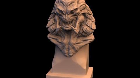 Arlen Crane bust 3D print mode