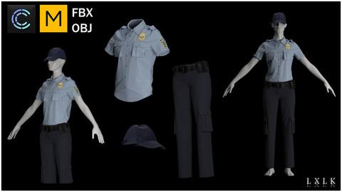 Police Officer Outfit - Marvelous Designer, CLO3D