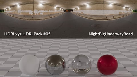 NightBigUnderwayRoad  - 22K 32bit HDRI Spherical Panorama (from Pack #5)
