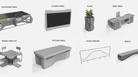 sci-fi furniture (exterior)